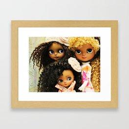 My Delicious Bliss Custom Beautiful Brown Blythe Art Dolls Framed Art Print