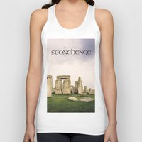 religious Tank Tops featuring Stonehenge by Solar Designs