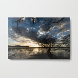Sunset in the Los Padres lagoon. Metal Print