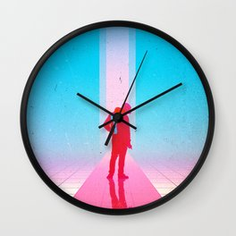 Pointing Reflections Wall Clock