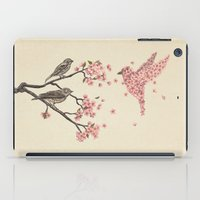 tree iPad Cases featuring Blossom Bird  by Terry Fan
