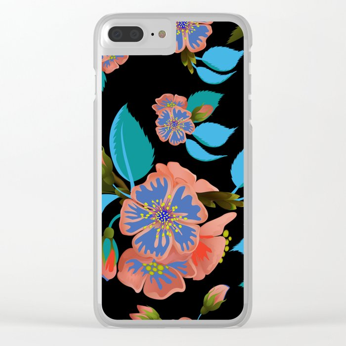 tas.color flower pattern Clear iPhone Case