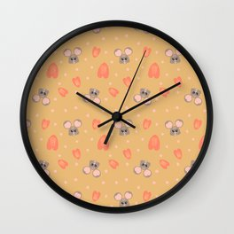 The Year of Rat Love & Blessings Ginger BG Wall Clock