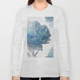 Blue Peony Long Sleeve T-shirt