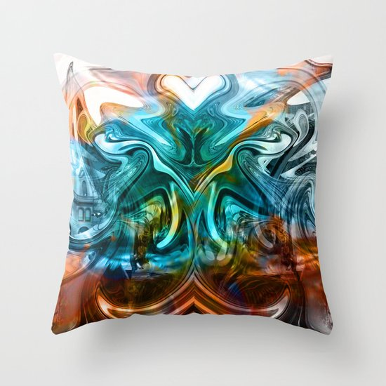 liquified time Throw Pillow