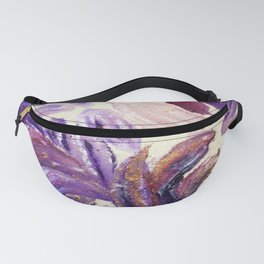 Purple Leaves with Gold Flakes Fanny Pack