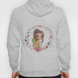 girl with groceries Hoody