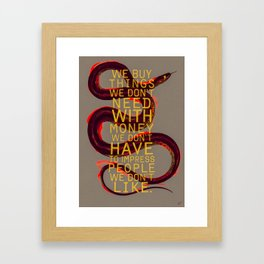 false behavior (variant 4) Framed Art Print