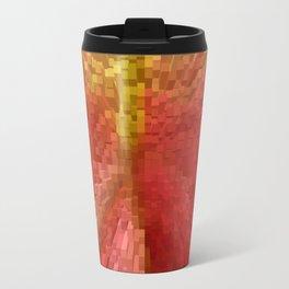 Columns of orange Travel Mug