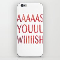 princess bride iPhone & iPod Skins featuring As You Wish Princess Bride by FayeJay