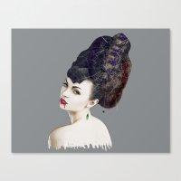 black widow Canvas Prints featuring Black Widow by Daniac Design