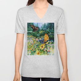 The Meadow by Kathy Morton Stanion Unisex V-Neck