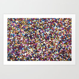 Colorful Rainbow Sequins Art Print