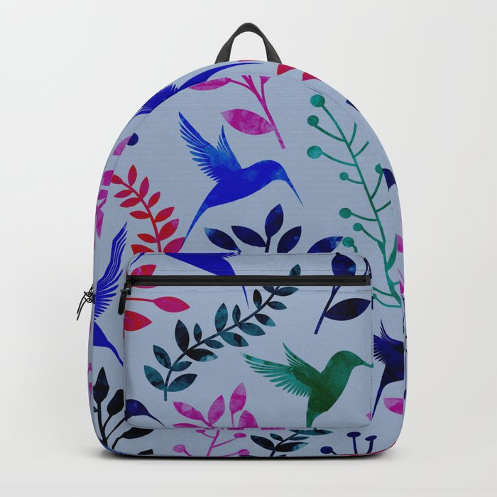 Watercolor Floral & Birds Backpack