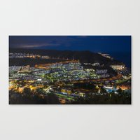 puerto rico Canvas Prints featuring Puerto Rico by night  by Rob Hawkins Photography