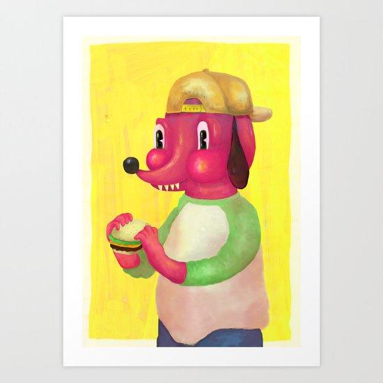 my kind of burger Art Print