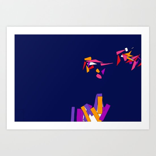 Fragmentation 3 Art Print