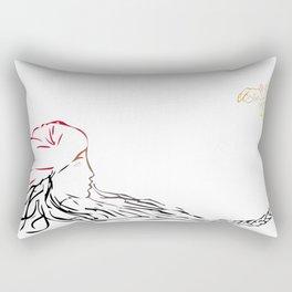 La pena negra Rectangular Pillow