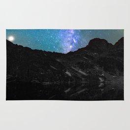 Milky Way Mountain Rug