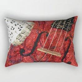 The Red Violin Rectangular Pillow