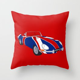 Shaguar (on Red) Throw Pillow