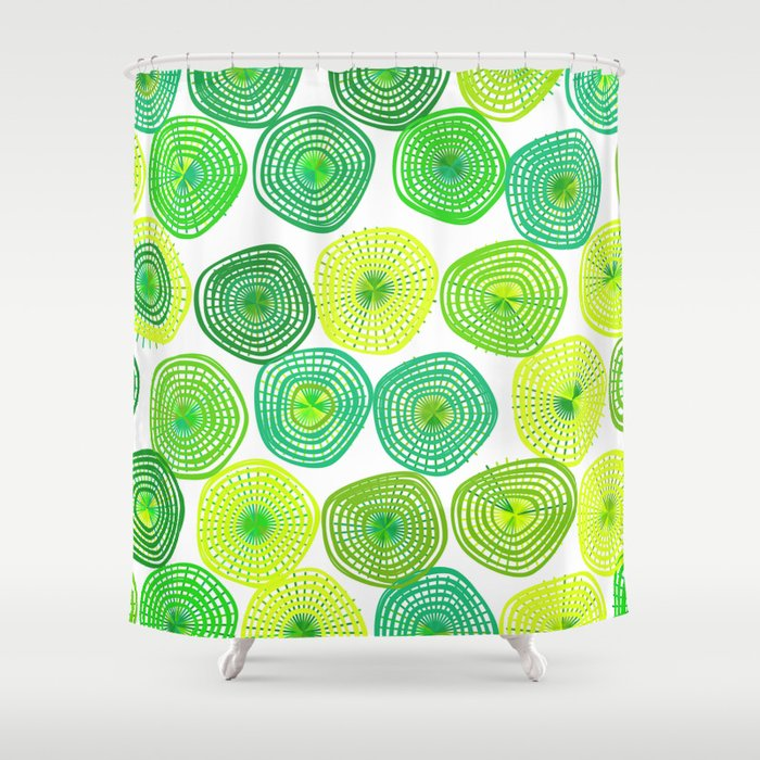 Lemon Lime Lift Spring Abstract Shower Curtain