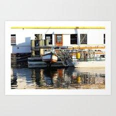 On the River Art Print