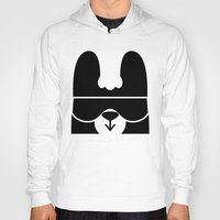 skiing Hoodies featuring Colorado the Skiing Bear by The Pairabirds