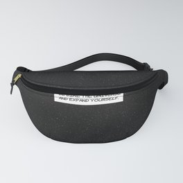 """Comic Book Panel: """"Be like the Universe and expand yourself"""" Fanny Pack"""