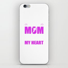 Lacrosse Moms Full Heart Mothers Day T-Shirt iPhone Skin