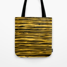 Honey Yellow Abstract Drizzle Tote Bag