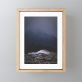 Moody wave Framed Mini Art Print
