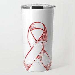 U=U Undetectable Equals Untransmittable HIV Awareness design Travel Mug