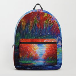 Lake View by OLena Art Backpack
