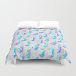 Iridescent Rainbow Crystals Duvet Cover