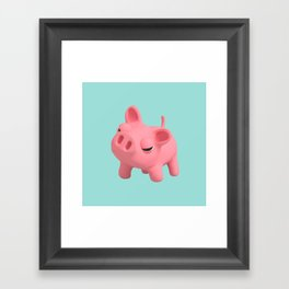 Rosa the Pig Angry Framed Art Print
