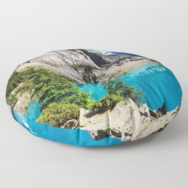 Moraine Lake HDR summer mountains Banff National park Canada Floor Pillow