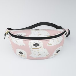 Staffordshire Dog Figurines No. 1 in Blush Pink Fanny Pack