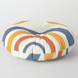 Retro Circle Rainbow Pattern Floor Pillow