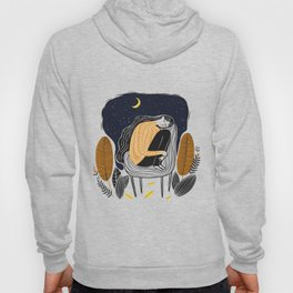 A PEACEFUL NIGHT, A Beautiful Girl With Long Hair Sleeping At Home Hoody