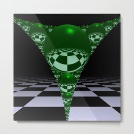 Apollonian gasket - green Metal Print