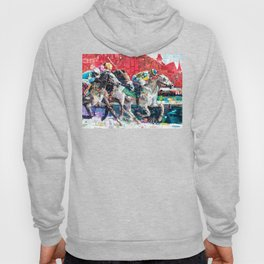 Abstract Race Horses Collage                                         Hoody
