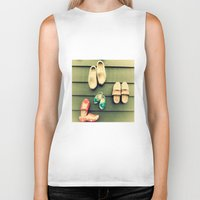 wooden Biker Tanks featuring Wooden shoes by Julia Tomova
