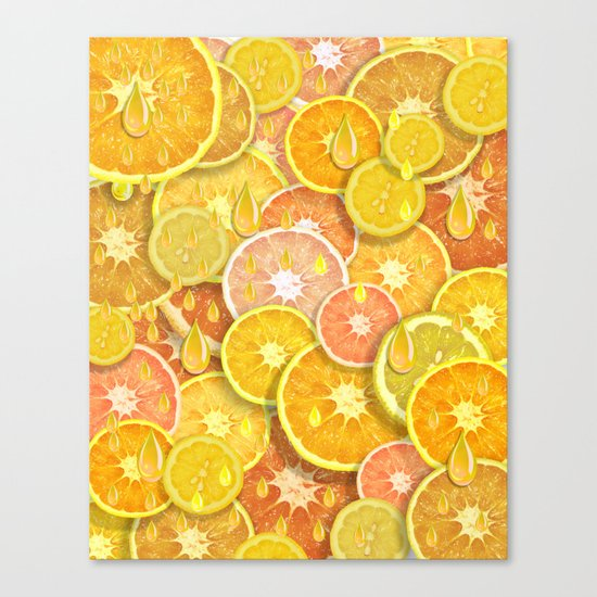 Juicy Fruits Canvas Print