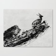 Intense Chasing Canvas Print