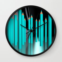 just some pencils -1- Wall Clock