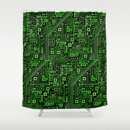 Short Circuits Shower Curtain