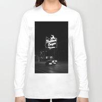 portland Long Sleeve T-shirts featuring Portland BW by DarkMikeRys