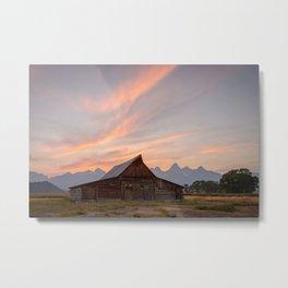 MORMON ROW SUNSET GRAND TETON NATIONAL PARK WYOMING LANDSCAPE PHOTOGRAPHY Metal Print