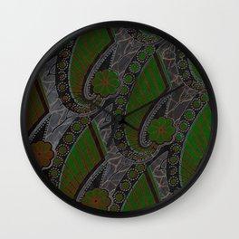 GREEN GRAY Wall Clock